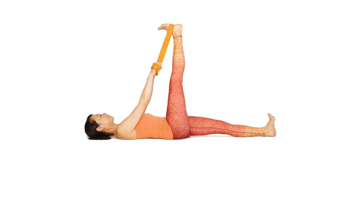 Recling Hand to Big Toe Pose Yoga